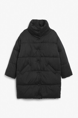 Monki Button-up puffer coat
