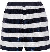 Sandro Party Sequin-Embellished Knitted Shorts