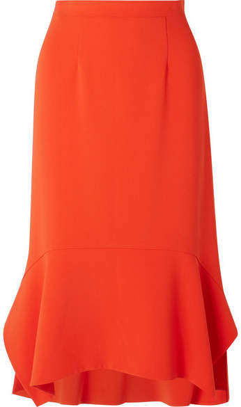 Altuzarra Arthur Peplum Cady Midi Skirt - Orange