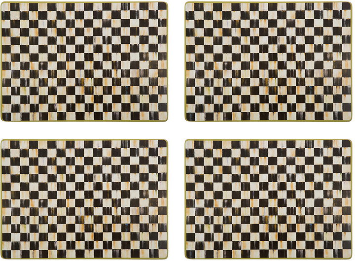 Mackenzie Childs MacKenzie-Childs - Courtly Check Cork Back Placemats - Set of 4