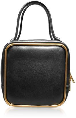 Alexander Wang Black Leather Halo Top Handle Satchel Bag