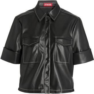 Staud Rue Vegan Leather Top