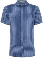 Howick Men's Shore Short Sleeved Stripe Linen Shirt