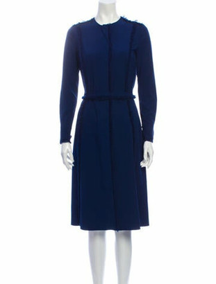 Altuzarra Crew Neck Midi Length Dress Blue