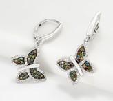 Affinity Diamond Jewelry Affinity Sterling Silver Rainbow Diamond Butterfly Earrings, 1/2