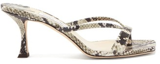Jimmy Choo Maelie 70 Python-effect Leather Sandals - Python