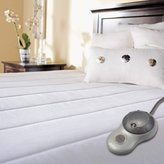 Sunbeam Quilted Polyester Heated Mattress Pad with EasySet Pro Controller, Twin