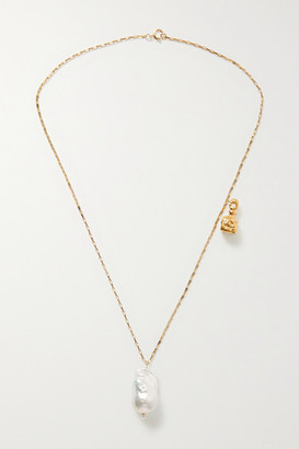 Alighieri The Anchor And The Baroque Gold-plated Pearl Necklace