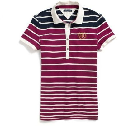 Tommy Hilfiger Womens Stripe Polo