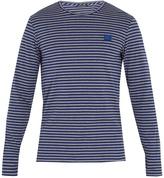 Acne Studios Napa Face striped cotton T-shirt