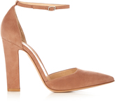 Gianvito Rossi Mary-Jane point-toe suede pumps