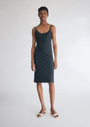 Raquel Allegra Women's Layering Tank Dress in Black, Size 2 | 100% Cotton