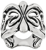 American West As Is Sterling Scroll Design Band Ring
