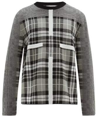 Craig Green Birdseye Tartan Wool Sweater - Mens - Grey