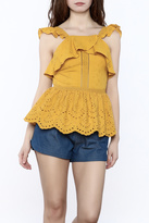 Moon River Embroirdered Peplum Top
