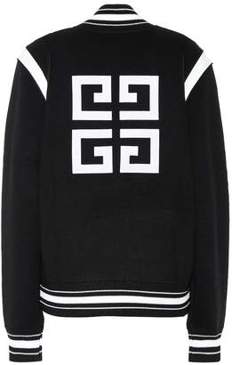 Givenchy Knitted wool varsity jacket