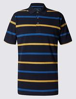 Blue Harbour Regular Fit Pure Cotton Stripe Polo Shirt