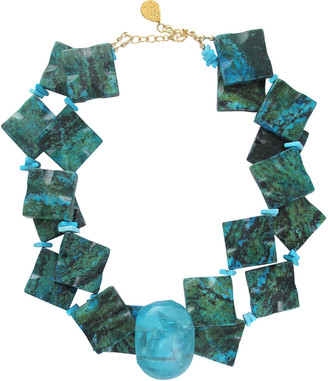 Devon Leigh Chrysocolla & Turquoise Necklace