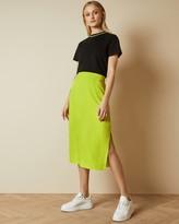 Ted Baker SAXIN Neon slip skirt with side slit