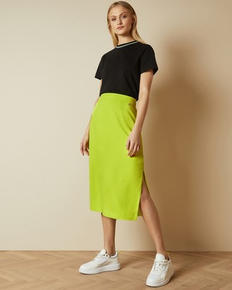 Ted Baker SAXIN Neon slip skirt with side slit