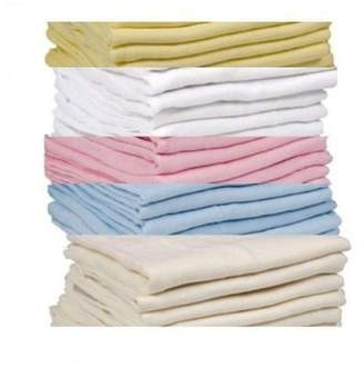 Dudu N Girlie 100 Percent Cotton Cot Bed Fitted Sheets, 70 cm x 70 cm, 3-Piece, Cream/Blue/White