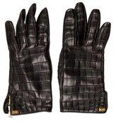 Loewe Alligator & Leather Gloves