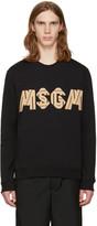 MSGM Black Patchwork Logo Pullover