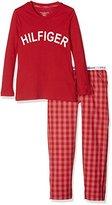 Tommy Hilfiger Girl's Luci Cn Ls Check Pyjama Sets