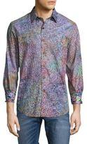 Robert Graham Buller Cotton Casual Button-Down Shirt