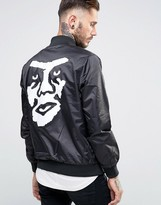 Obey Satin Bomber With Back Print