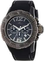 Adee Kaye Men's AK7755-MIPGN Grand Mond - G2Z Analog Display Japanese Quartz Black Watch