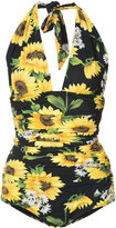 Dolce & Gabbana Sunflower swimsuit - women - Nylon/Spandex/Elastane - 2