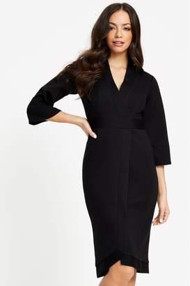 Closet Womens Wrap Dress - Black