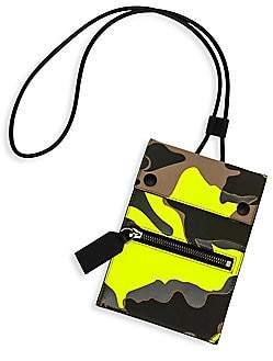 Valentino Men's Garavani Camouflage Leather Lanyard Pouch