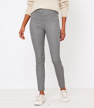 LOFT Tall Side Zip High Waist Skinny Leggings in Check