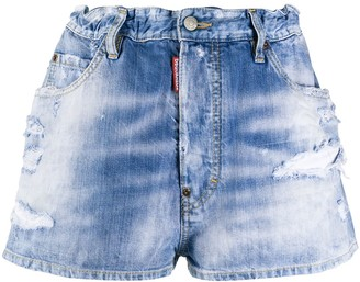 DSQUARED2 Embroidered Rainbow Shorts