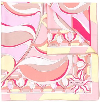 Emilio Pucci Abstract Peony Print Scarf