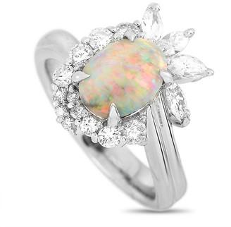 Heritage Platinum 2.04 Ct. Tw. Diamond & Opal Ring