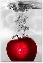 "KitchenArt ""Red Apple Splash"" Canvas Wall Art by Roderick Stevens"