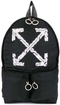 Off-White Airport Tape Diagonal Arrows backpack