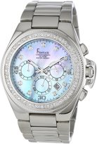 Freelook Women's HA5303M-6PX Aquamarina II Stainless Steel Mother of Pearl Dial Swarovski Bezel Watch