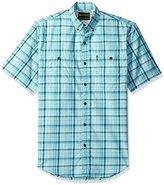 G.H. Bass Men's Explorer Fancy Short Sleeve Plaid Shirt