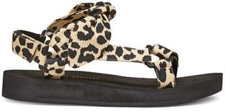 Loeffler Randall Maisie Leopard-Print Sport Sandals