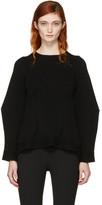 Alexander McQueen Black Cashmere Crewneck Sweater