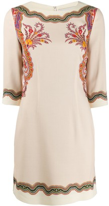 Etro Floral-Print Mini Dress