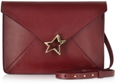 Corto Moltedo Tiffany Star Burgundy Leather Shoulder Bag
