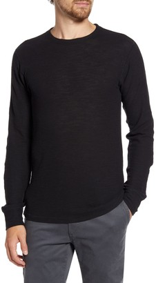 Billy Reid Crew Neck Long Sleeve Thermal T-Shirt