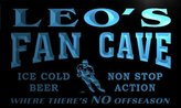 AdvPro Name tg168-b Leo's Hockey Fan Cave Man Room Bar Beer Neon Light Sign