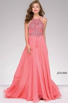 Jovani Halter Neckline Beaded Prom Dress 92605
