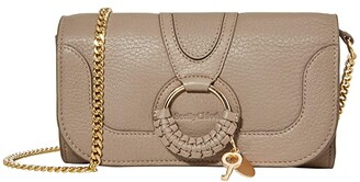 See by Chloe Hana Long Wallet with Flap (Black) Handbags